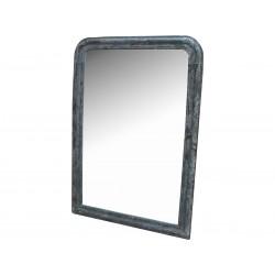 Mirror w.antique silver edge 80x115cm