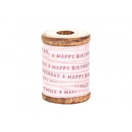 Wstążka Na Szpuli Chic Antique Happy Birthday 5m