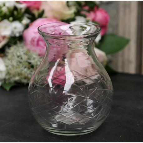 Szklany Wazonik Lampion Chic Antique