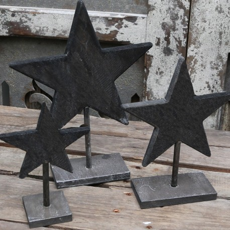 Star on foot (X16) wood antique grey