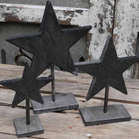 Star on foot (X16) wood antique grey