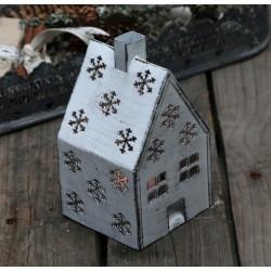 Domek Na Świeczkę Chic Antique ze Śnieżynkami