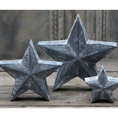 Star (X16) antique zinc 19x19 cm