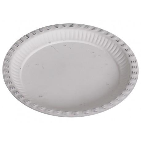 Tray zinc antique white D20 cm