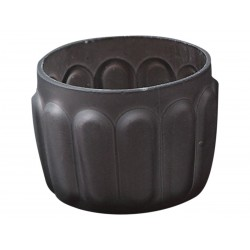 Tealight holder dusty purple H5,5/D7 cm