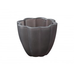 Tealight holder dusty purple H7/W8,5 cm