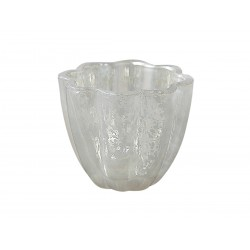 Tealight holder grey H7/W8,5 cm