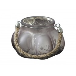 Tealight holder w.rope powder