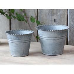 French flower pots antique zinc