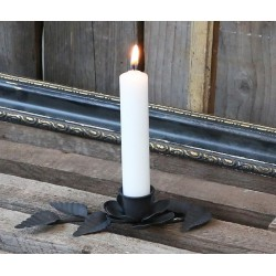 Metalowy Świecznik Chic Antique Liście