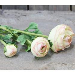 Kwiaty Sztuczne Jaskier Kremowy