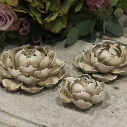 French deco rose antique cream