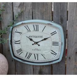 Zegar Chic Antique Oliwkowy