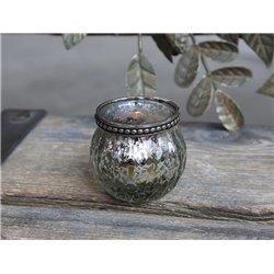 Tealight holder w. pearl edge