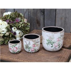 Toulouse Flower Pot w. roses