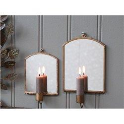 Wall Candlestick w. mirror