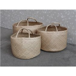Baskets w. handle set of 3