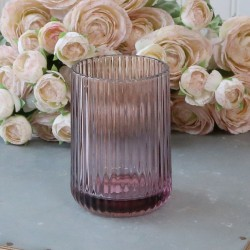 Szklany Kubek Łazienkowy Chic Antique z Fioletowego Szkła