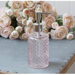 Szklany Dozownik Do Mydła Chic Antique Różowy