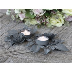 Candlestick w leaves f. tealight candles