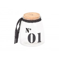 Storage glass w.cork lid No.1
