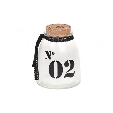 Storage glass w.cork lid No.2