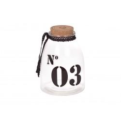 Storage glass w.cork lid No.3