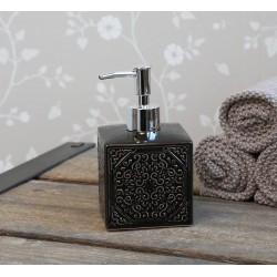 Dozownik Do Mydła Chic Antique Czarny z Wzorkami