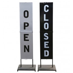 "Sign on base ""open/close"""