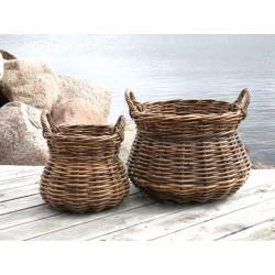 Provence Baskets w. handle set of 2