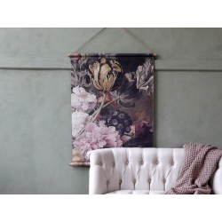 Canvas f. hanging w. floral print