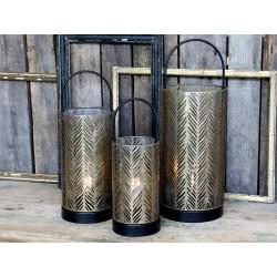 Lantern w. pattern incl. bulb & timer