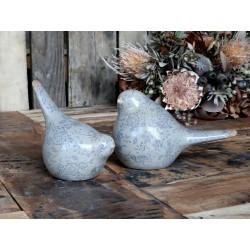 Ceramiczny Ptaszek Ozdobny Chic Antique w Niebieskie Kwiatki Melun A