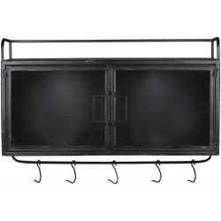 Factory Cabinet w. glassdoors & hooks