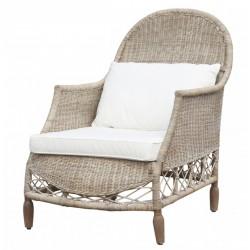 Fotel Rattanowy Chic Antique z Poduszkami
