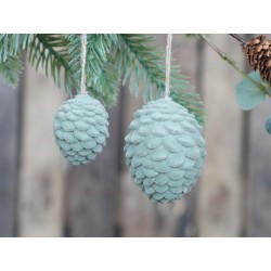 Pine cone (X20) in velour f. hanging