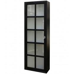Wall cupboard w. 1 door antique black