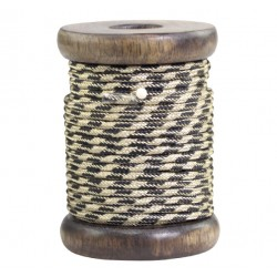 Ribbon w. gold thread twisted