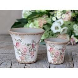 Naves Flowerpot w. rose pattern