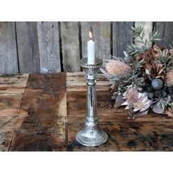 Candlestick w. grooves f. dinner candles