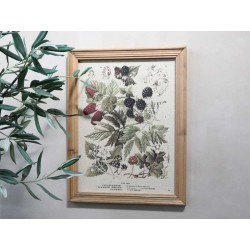 Picture w. berries motif & nature frame