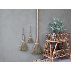 Sweeping broom nat. straw handle bamboo