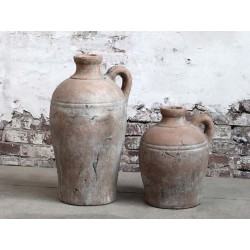 Terracotta Bottle w. handle
