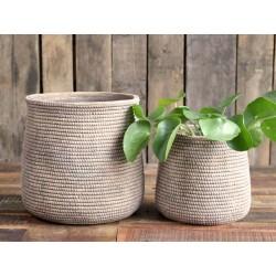 ƒvron Flowerpot w. braided pattern