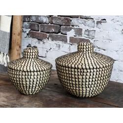 Basket w. lid set of 2