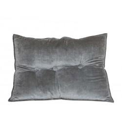 Cushion velour w. 3 buttons