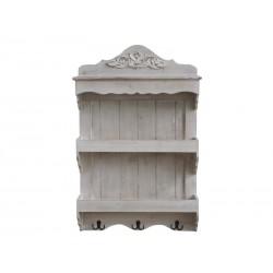 Bookcase w. 2 shelves & 3 hooks
