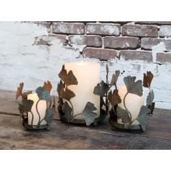 Candlestick w. leaf decor
