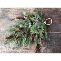 Fleur Fir Branch w. cones for hanging