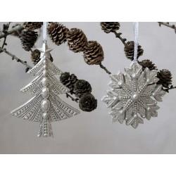 Christmas Tree and Snowflake set of 2